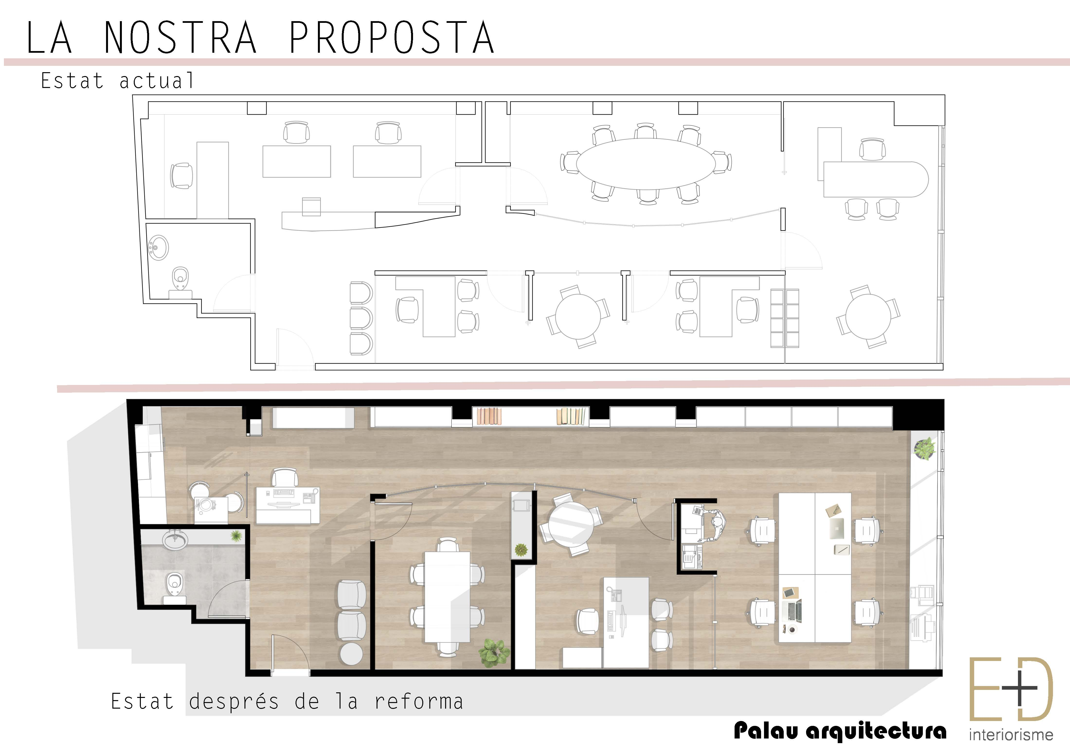 Reforma integral de despatx - Estat actual - PALAU ARQUITECTURA